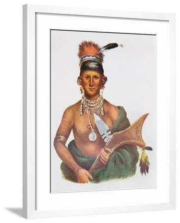 Appanoose, a Sauk Chief, 1837, Illustration from 'The Indian Tribes of North America, Vol.2', by…-George Cooke-Framed Giclee Print