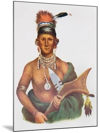 Appanoose, a Sauk Chief, 1837, Illustration from 'The Indian Tribes of North America, Vol.2', by…-George Cooke-Mounted Giclee Print