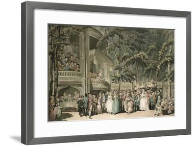 Vauxhall, Engraved by Robert Pollard (1755-1838) and Aquatinted by Francis Jukes (1747-1812),…-Thomas Rowlandson-Framed Giclee Print