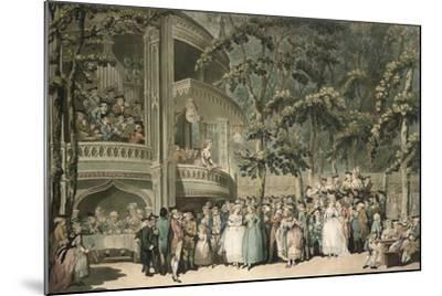 Vauxhall, Engraved by Robert Pollard (1755-1838) and Aquatinted by Francis Jukes (1747-1812),…-Thomas Rowlandson-Mounted Giclee Print