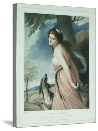 Bacchante, Engraved and Pub. by Charles Knight (1743-C.1826), 1797-George Romney-Stretched Canvas Print