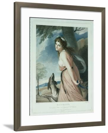 Bacchante, Engraved and Pub. by Charles Knight (1743-C.1826), 1797-George Romney-Framed Giclee Print
