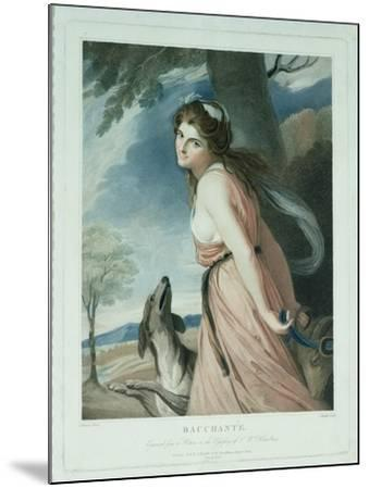 Bacchante, Engraved and Pub. by Charles Knight (1743-C.1826), 1797-George Romney-Mounted Giclee Print