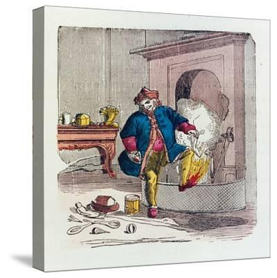 A Visit from St. Nicholas, 1840s-T.C. Boyd-Stretched Canvas Print