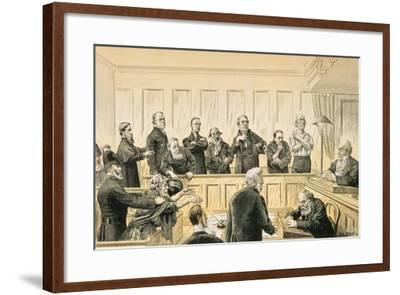 Scenes in the Liberal Union, No. 4 the Magistrate and the Refractory Casuals, from 'St. Stephen's…-Tom Merry-Framed Giclee Print