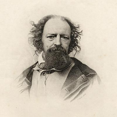 Portrait of Alfred, Lord Tennyson (1809-92)-C. Laurie-Framed Giclee Print