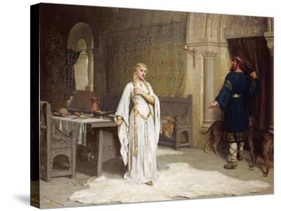 Lady Godiva, 1892-Edmund Blair Leighton-Stretched Canvas Print