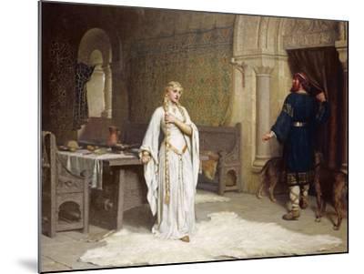 Lady Godiva, 1892-Edmund Blair Leighton-Mounted Giclee Print
