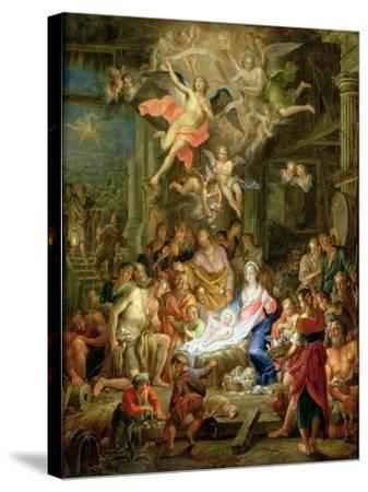 The Adoration of the Shepherds, 1741-Frans Christoph Janneck-Stretched Canvas Print