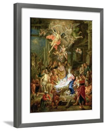 The Adoration of the Shepherds, 1741-Frans Christoph Janneck-Framed Giclee Print
