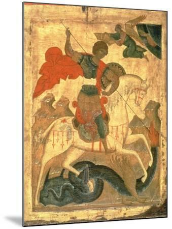 St. George and the Dragon--Mounted Giclee Print