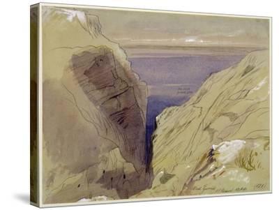 Wied Zurrik, Malta, 10 Am, 11th March-Edward Lear-Stretched Canvas Print