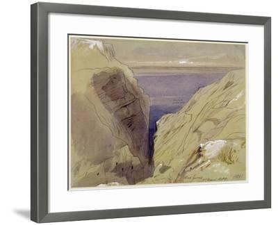 Wied Zurrik, Malta, 10 Am, 11th March-Edward Lear-Framed Giclee Print
