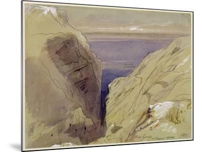 Wied Zurrik, Malta, 10 Am, 11th March-Edward Lear-Mounted Giclee Print
