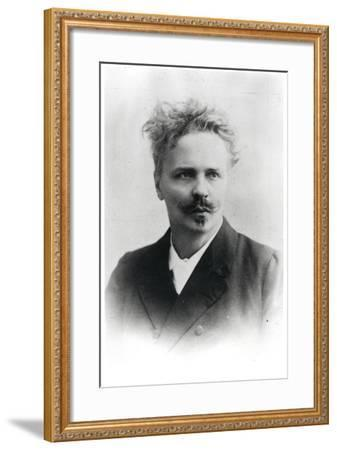 Johan August Strindberg (1849-1912)-Reutlinger Studio-Framed Premium Photographic Print