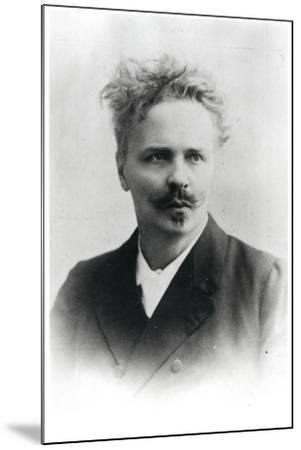 Johan August Strindberg (1849-1912)-Reutlinger Studio-Mounted Premium Photographic Print