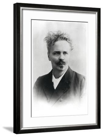 Johan August Strindberg (1849-1912)-Reutlinger Studio-Framed Photographic Print
