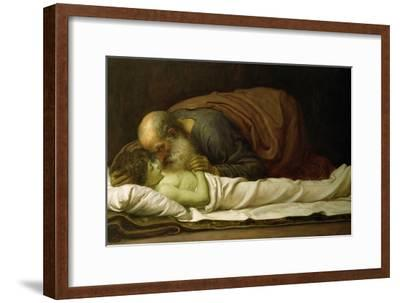 Elisha Raising the Son of the Shunamite, 1881-Frederick Leighton-Framed Giclee Print