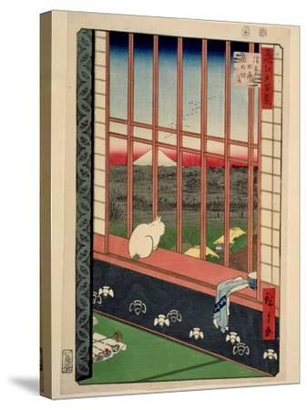 Asakusa Rice Fields During the Festival of the Cock, C.1857-Ando Hiroshige-Stretched Canvas Print