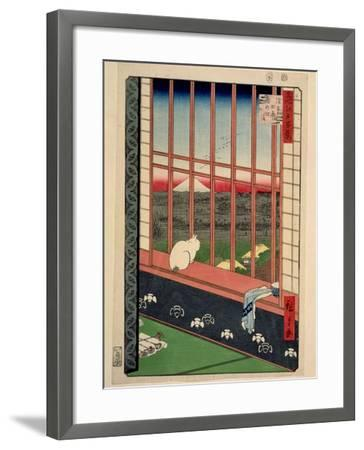 Asakusa Rice Fields During the Festival of the Cock, C.1857-Ando Hiroshige-Framed Giclee Print