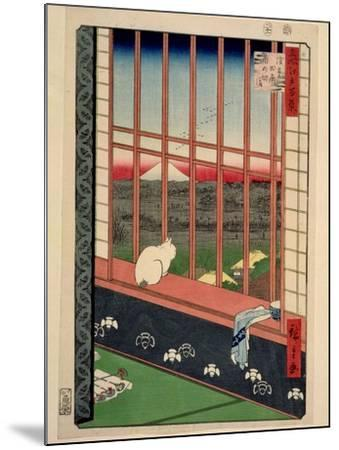 Asakusa Rice Fields During the Festival of the Cock, C.1857-Ando Hiroshige-Mounted Giclee Print
