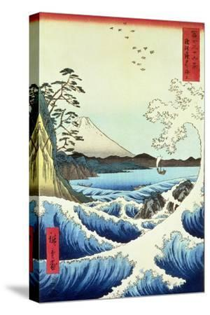 View from Satta Suruga Province-Ando Hiroshige-Stretched Canvas Print