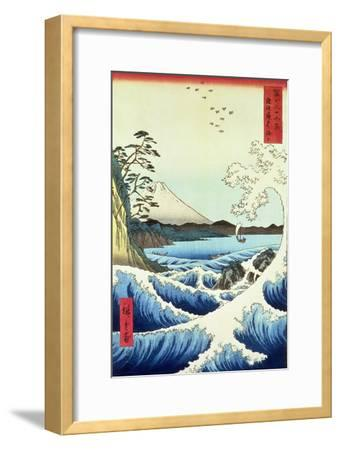 View from Satta Suruga Province-Ando Hiroshige-Framed Giclee Print