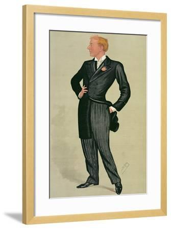 Mr Herbert Beerbohm Tree (1852-1917), a 'spy' Cartoon from Vanity Fair, 12th July 1890-Sir Leslie Ward-Framed Giclee Print