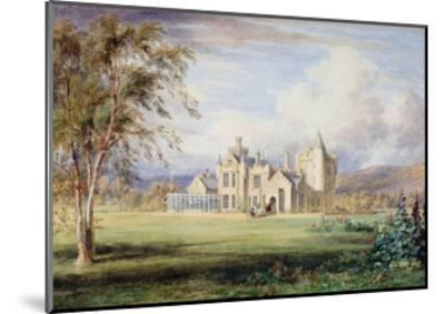 Balmoral Castle, C.1840-James William Giles-Mounted Giclee Print