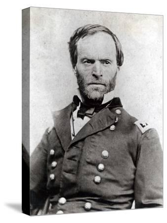 General William Tecumseh Sherman (1820-91)--Stretched Canvas Print