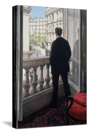 Man at the Window. 1875-Gustave Caillebotte-Stretched Canvas Print