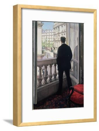 Man at the Window. 1875-Gustave Caillebotte-Framed Giclee Print