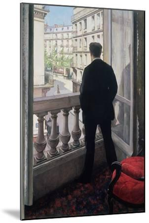 Man at the Window. 1875-Gustave Caillebotte-Mounted Giclee Print