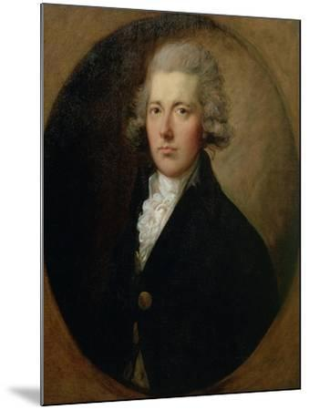 Portrait of William Pitt the Younger (1759-1806), C.1787-Thomas Gainsborough-Mounted Giclee Print