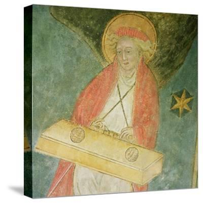 Angel Playing a Clavichord, Detail from the Vault of the Crypt--Stretched Canvas Print