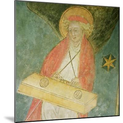 Angel Playing a Clavichord, Detail from the Vault of the Crypt--Mounted Giclee Print