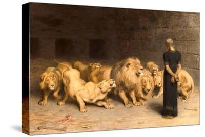 Daniel in the Lions' Den, 1872--Stretched Canvas Print