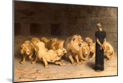 Daniel in the Lions' Den, 1872--Mounted Giclee Print
