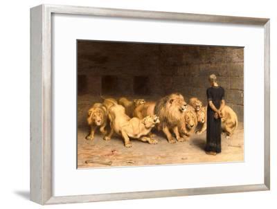 Daniel in the Lions' Den, 1872--Framed Giclee Print