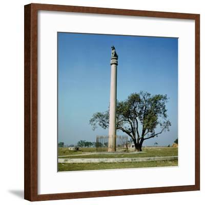 Lion Pillar of Emperor Ashoka (C.264-223 BC)--Framed Photographic Print