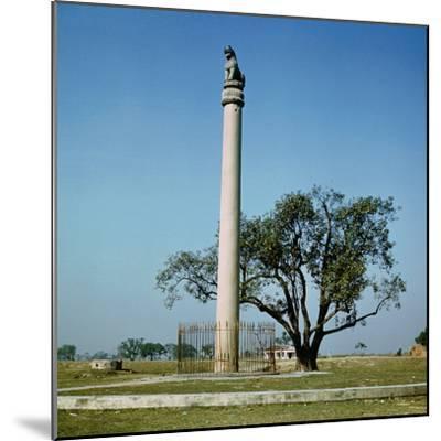 Lion Pillar of Emperor Ashoka (C.264-223 BC)--Mounted Photographic Print