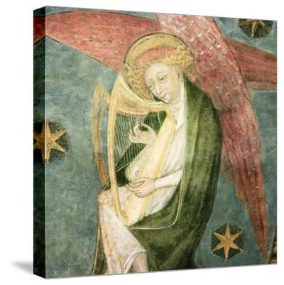 Angel Musician Playing a Harp, Detail from the Vault of the Crypt--Stretched Canvas Print