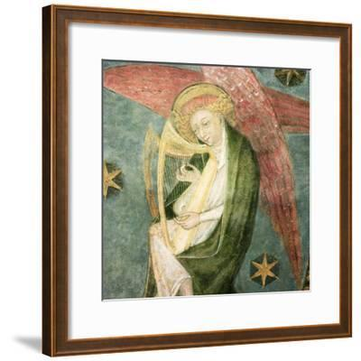 Angel Musician Playing a Harp, Detail from the Vault of the Crypt--Framed Giclee Print