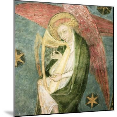 Angel Musician Playing a Harp, Detail from the Vault of the Crypt--Mounted Giclee Print