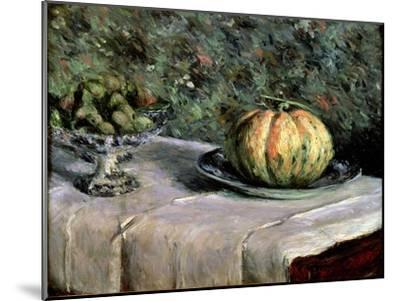 Melon and Fruit Bowl with Figs, 1880-82-Gustave Caillebotte-Mounted Giclee Print