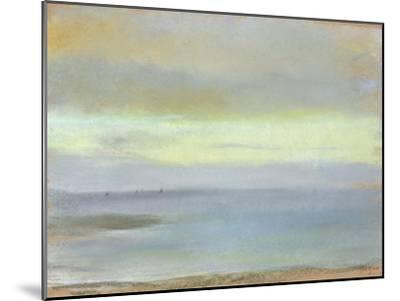 Marine Sunset, C.1869-Edgar Degas-Mounted Giclee Print
