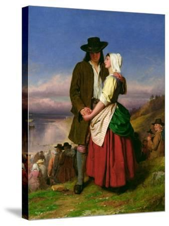 The Parting of Evangeline and Gabriel, C.1870-John Faed-Stretched Canvas Print