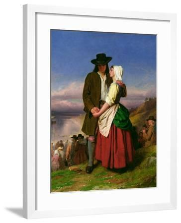 The Parting of Evangeline and Gabriel, C.1870-John Faed-Framed Giclee Print