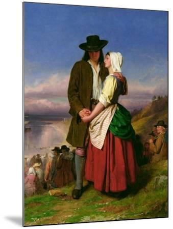 The Parting of Evangeline and Gabriel, C.1870-John Faed-Mounted Giclee Print