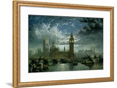 A View of Westminster Abbey and the Houses of Parliament, 1870-John Macvicar Anderson-Framed Giclee Print